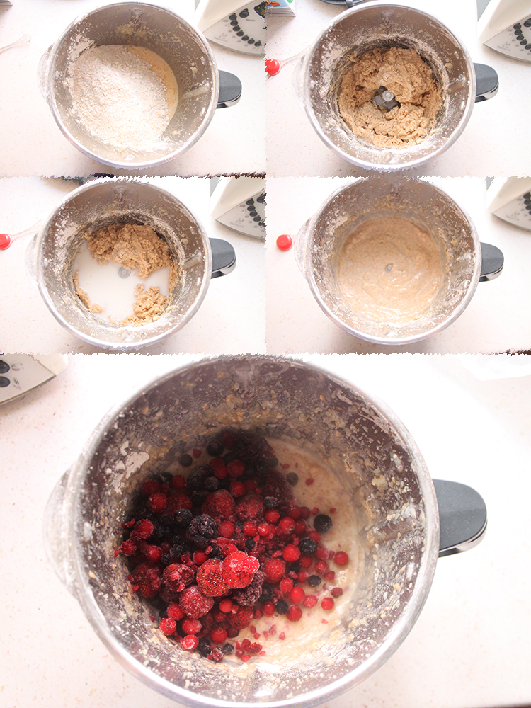 Coffee cake integral de frutos rojos