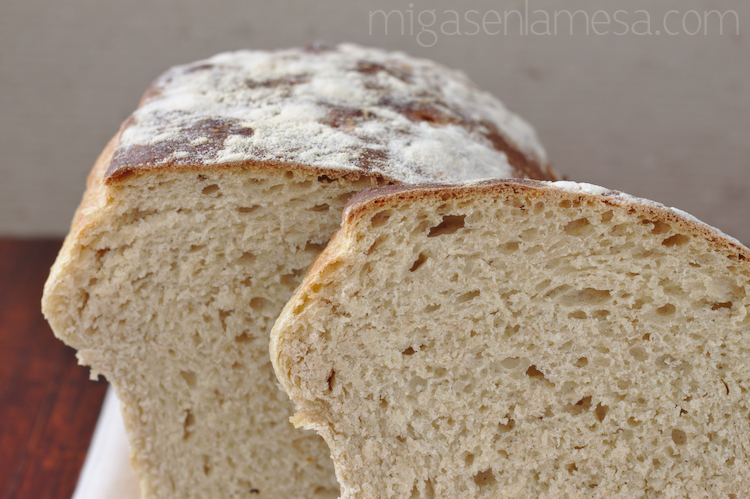 Pan de molde con tang zhong, de espelta integral