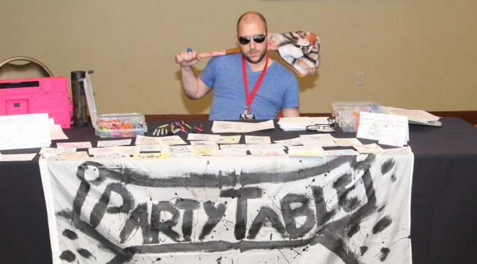 Party Table at Random Battle Con 2015