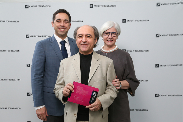 Knight Arts Challenge Award presented to the MIGF Director Mesut Özgen on November 28, 2016.