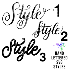 Hand Lettered SVGs Style Options
