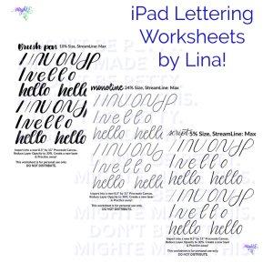 iPad Lettering Worksheets