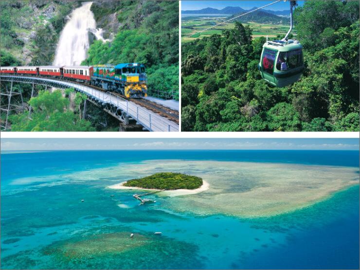 二大世界遺産 キュランダ列車+スカイレール+グリーン島【ケアンズツアーのことならジェイさんツアー】