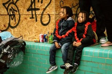 Street Party, Rain, Dancing, bored children