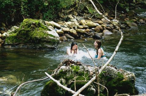 Swimming in glacial meltwater
