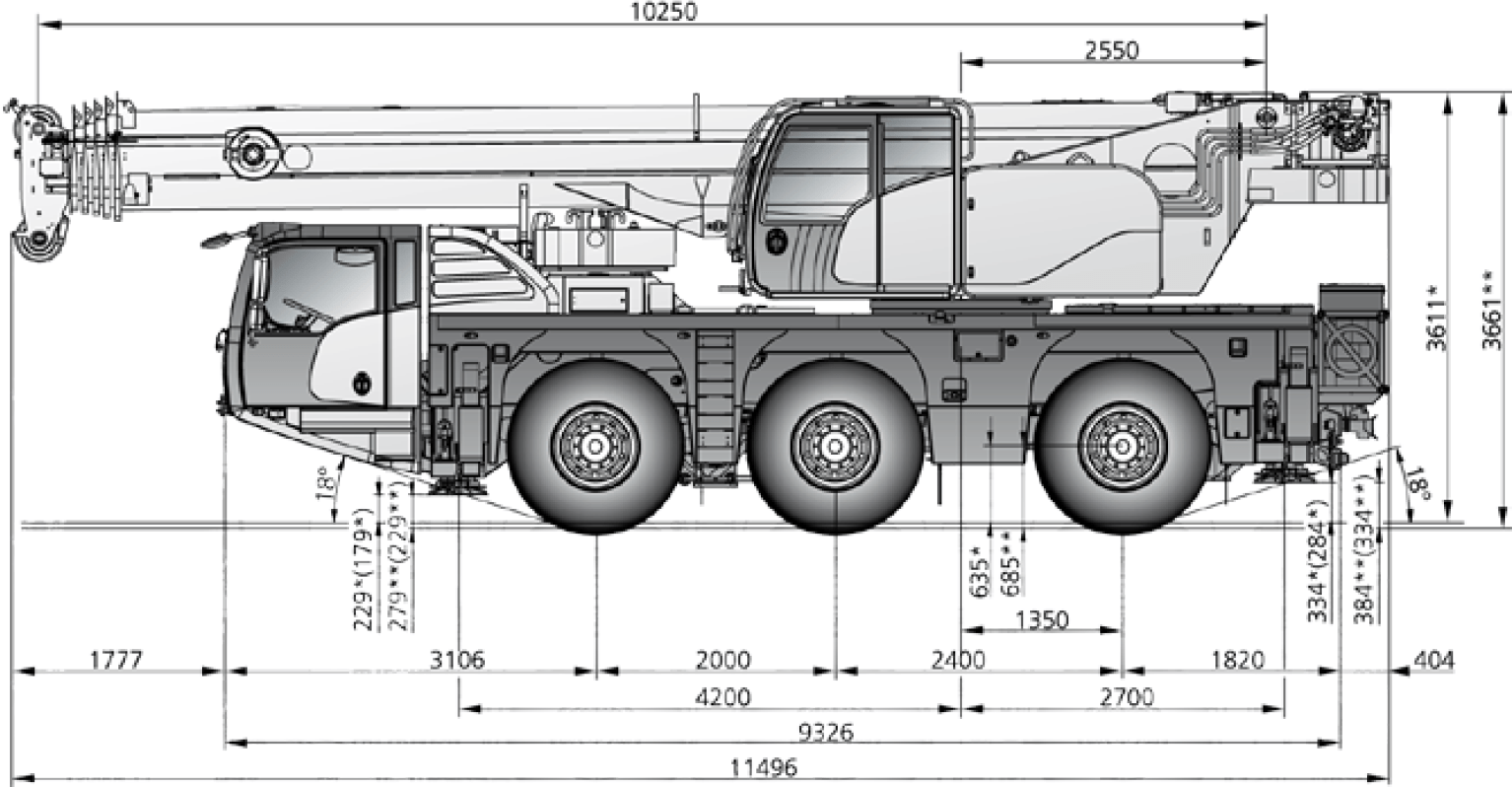 hight resolution of demag city crane dimensions diagram