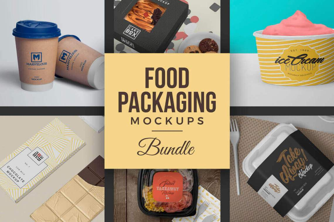 Download 40 Hi-Res Food Packaging Mockups Bundle - only $14 ...