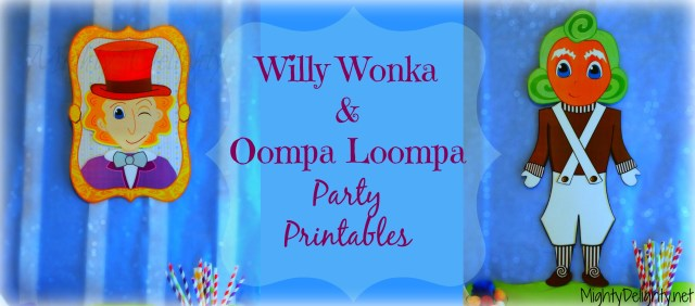 Willy Wonka Oompa loompa Party Printables