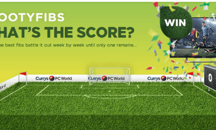 Win a 50″ TV with Currys PC World in their #FootyFibs competition