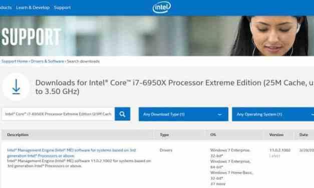 Intel Core i7-6950X 10-Core LGA2011-v3 X99 Details Leek in Support Document