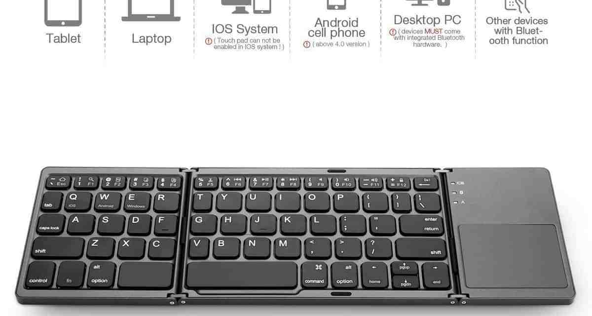 Mini Review: Jelly Comb Foldable Keyboard with TouchPad