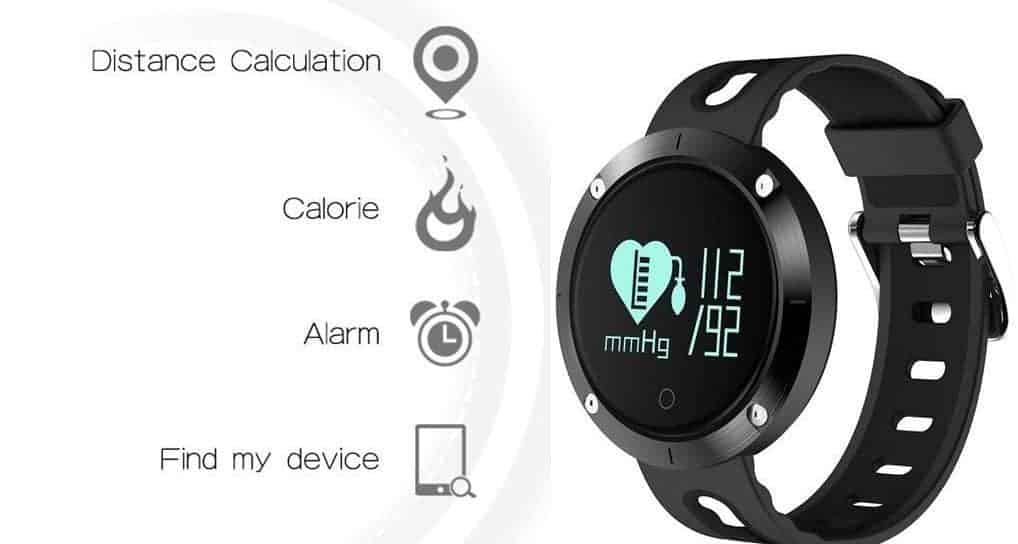 Fatmoon DM58 Fitness Tracker with Heart Rate Monitor