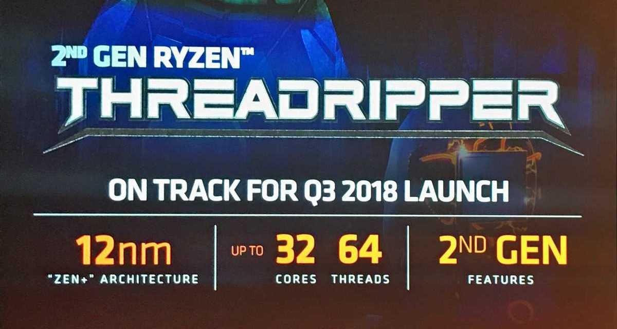 AMD Ryzen Threadripper 2nd Gen 2990X 32-core CPU specification leaks with base 3.0GHz & boost 4.2GHz