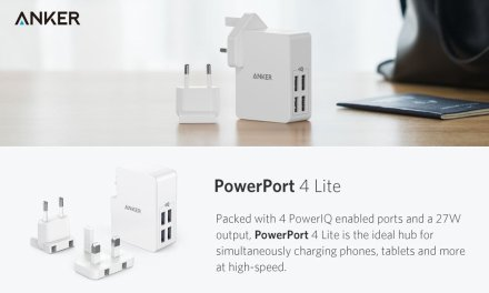Anker PowerPort 4 Lite Review – 27W 4-Port USB Wall Charger with EU & UK Plugs