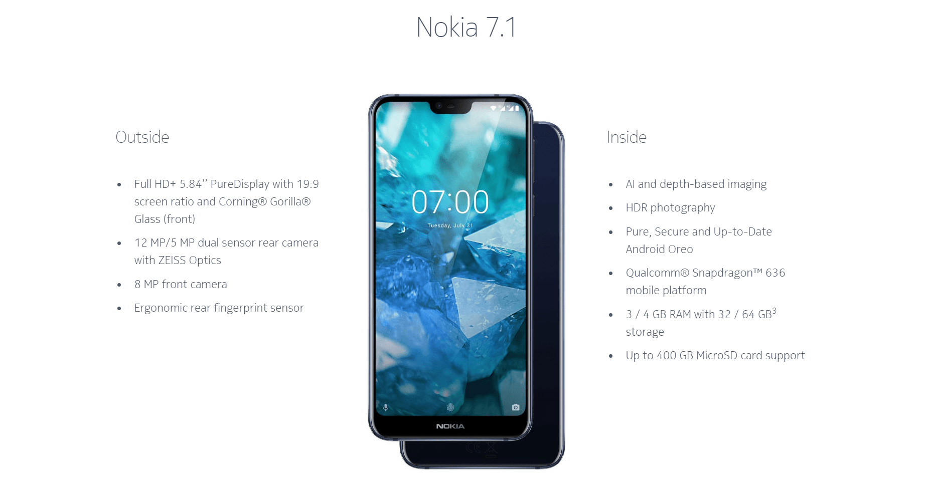 HMD Global launches latest mid-ranger the Nokia 7.1