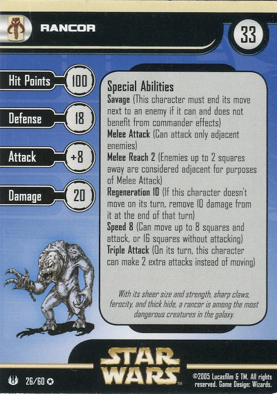 Star Wars Miniatures Rancor Universe 26 Mighty Jabba