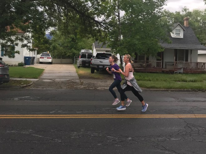 Manina and Claire finishing strong