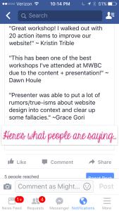Great workshop testimonials