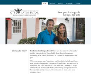 CTS Latin Tutor web design