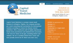 Capitol Travel Medicine web design