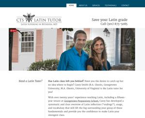 CTS Latin Tutor website