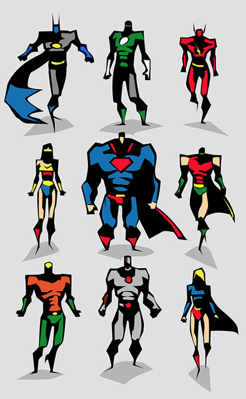 Amazing Superhero Character Designs  MightyMega