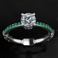 Lightsaber Engagement Ring - MightyMega