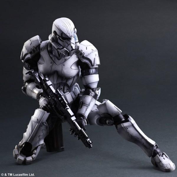 Square Enix Boba Fett & Stormtrooper Action Figures - Mightymega