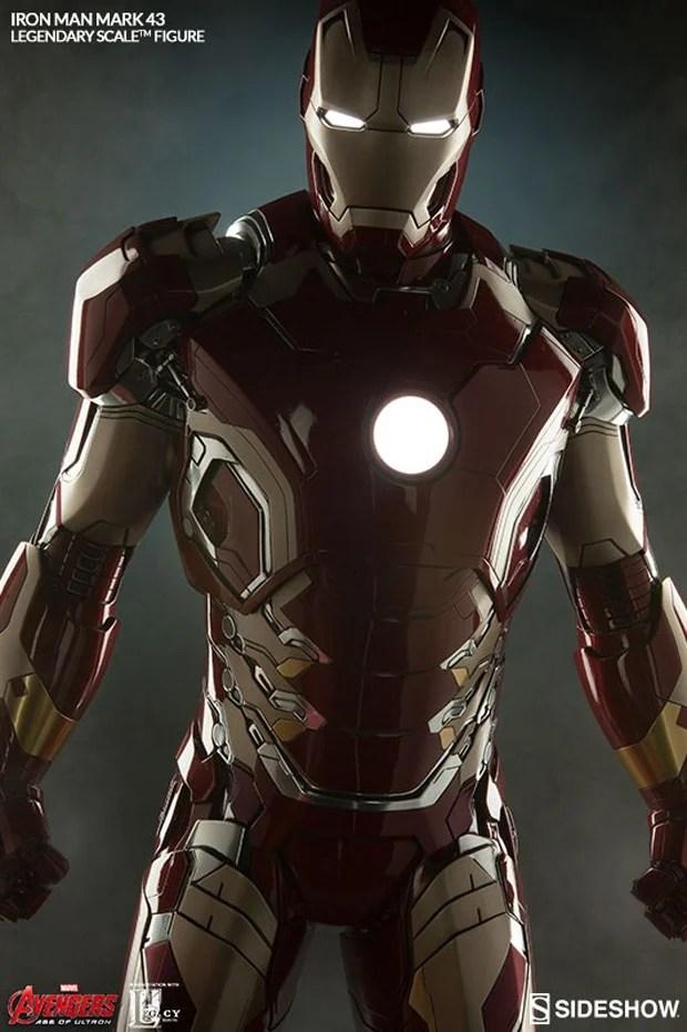 Sideshow Legendary Scale Iron Man Mk 43 Maquette MightyMega