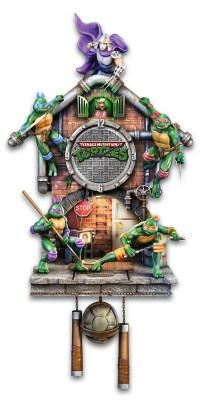 Teenage Mutant Ninja Turtles Lighted Clock - MightyMega