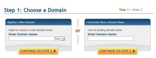 step 2 - enter domain name