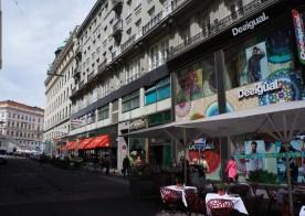 Maysederstrasse with Barcelona's Desigual and Austria's Rosenberger Restaurant