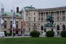Neue Burg Palace and Eugen of Savoy Statue