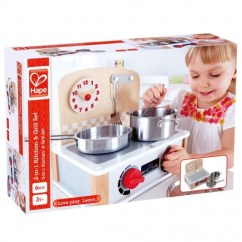 Hape Kitchen Remodel Mn 2 In 1 Grill Set