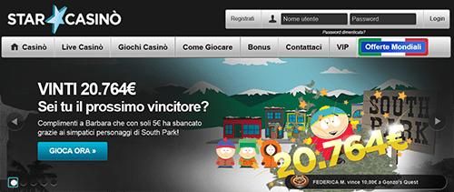 starcasino-southpark-vincita
