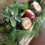 Through the Years: Christmas Tree Stump Display