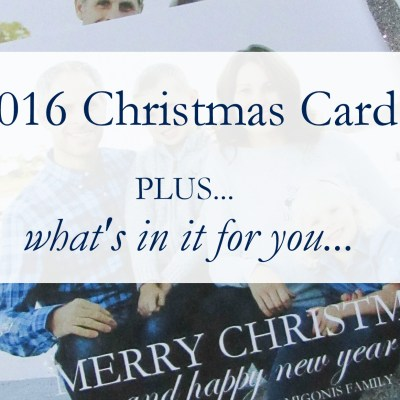 Christmas Cards + Giveaway