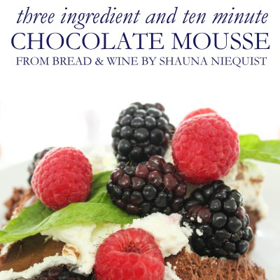 Ten Minute Chocolate Mousse