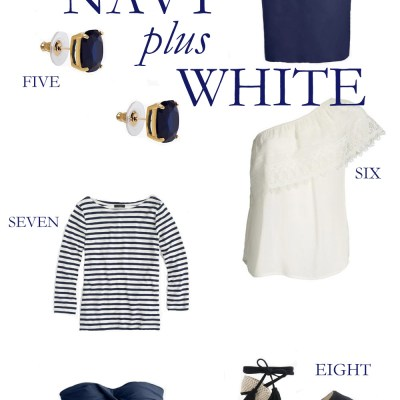 Navy + White Coastal Fashion Faves