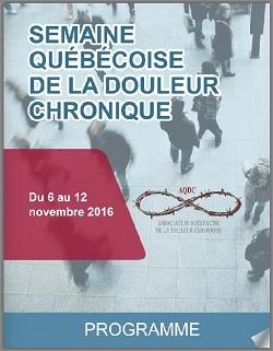 Semaine québécoise de la douleur chronique - 2016 - Migraine Québec