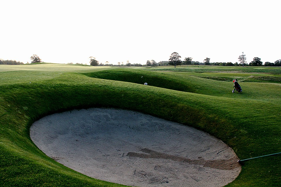 Most of the 150 bunkers are three to six feet deep. Have fun!