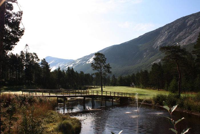 Narvik Golf Club Norway hole 18