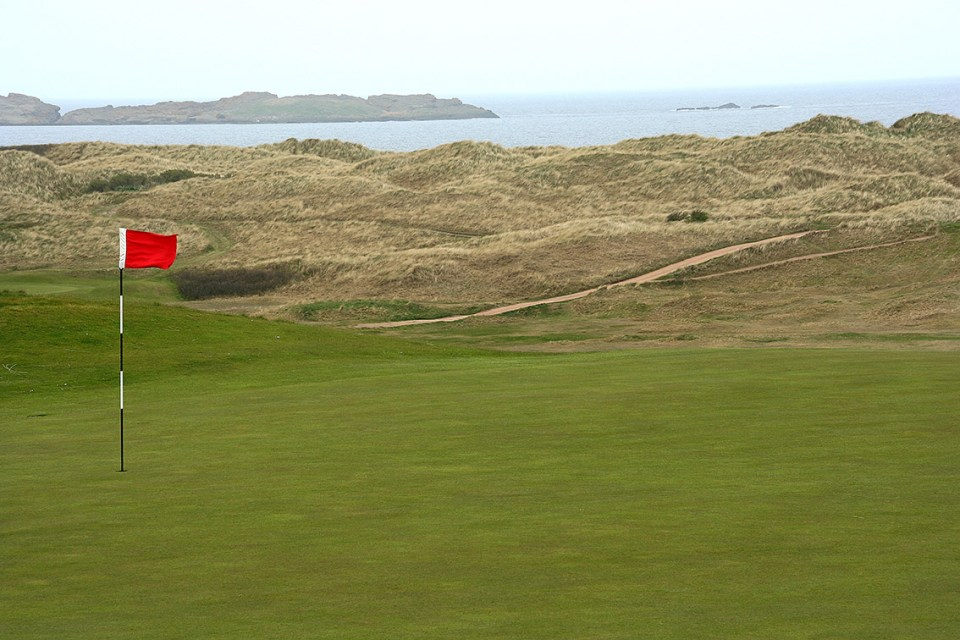 Links land like links land is supposed to be; the beauty of Royal Portrush is stunning.