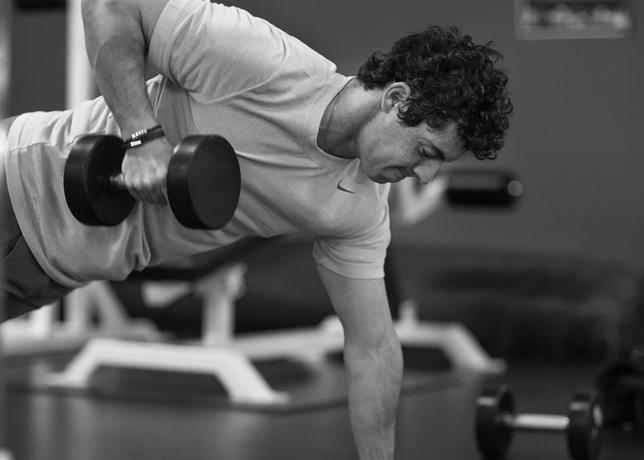 WORKING HARD:  McIlroy's love for training is grounded in a few motivations.