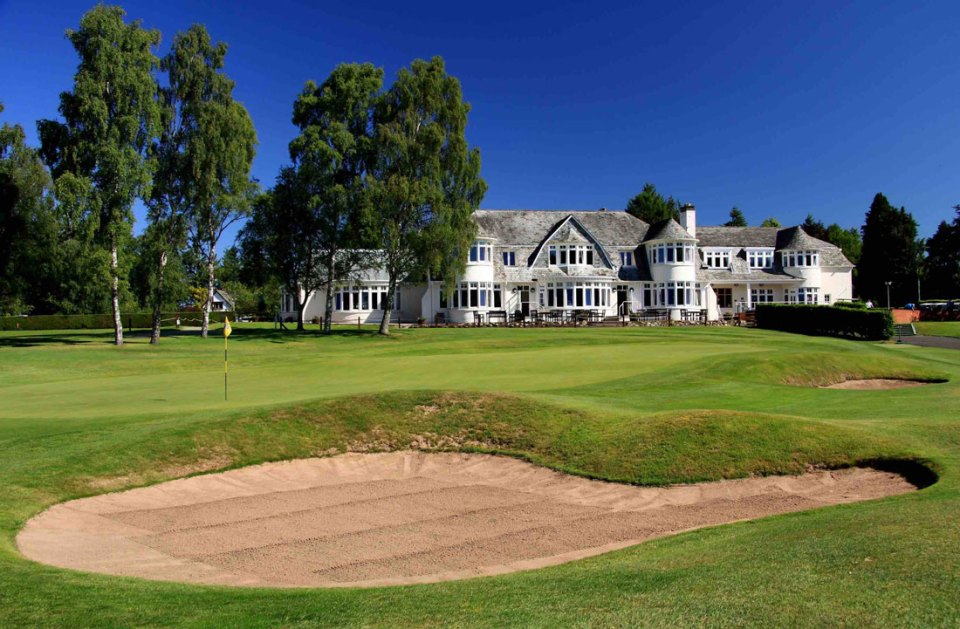 Blairgowrie Rosemount 18th green. Prior to the Ryder Cup in neighboring Gleneagles the Junior Ryder Cup took place here.