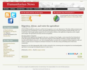 HumanitarianNews.org: Migration, labour, and water for agriculture