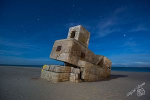 Fotografía Nocturna de Búnker en Punta del Boquerón, San Fernando, Cádiz