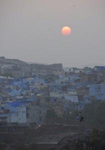 Atardecer en Jodhpur, la Ciudad Azul.