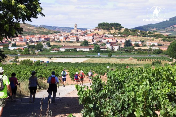 Llegada a Navarrete, La Rioja