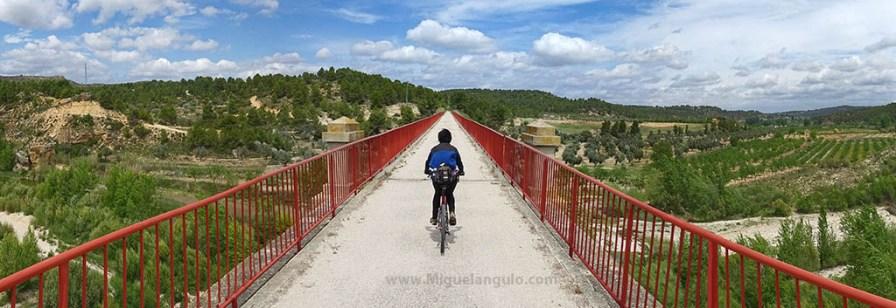 Viaduc de la Via Verde à Torre del Compte (Teruel)